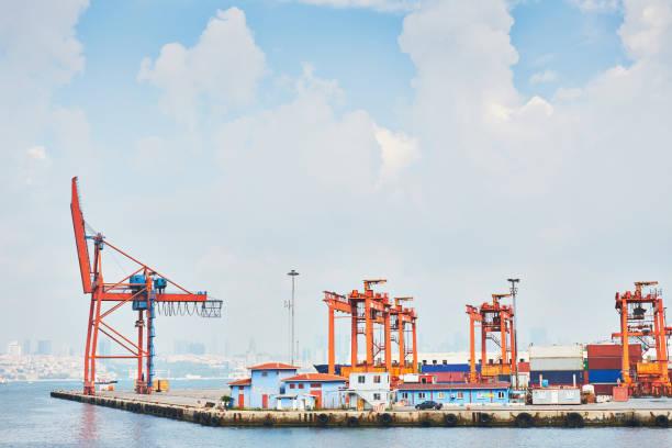 Istanbul industrial docks stock photo