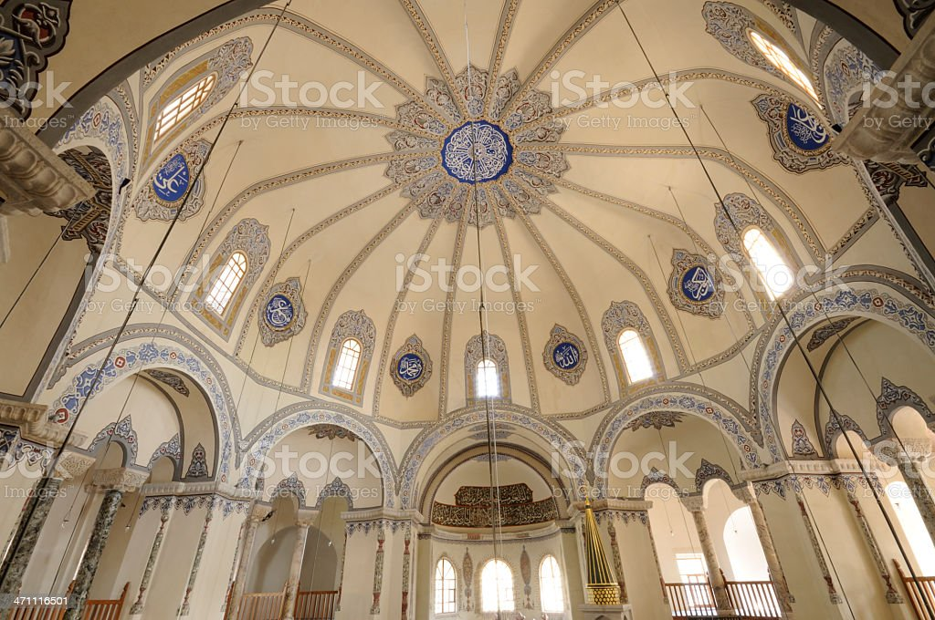 Istanbul / Interior Detail From Mosque royalty-free stock photo