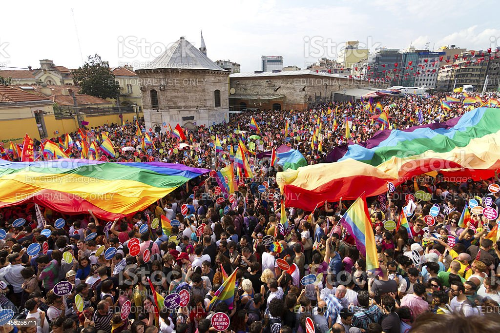 Istanbul LGBT Pride parade stock photo