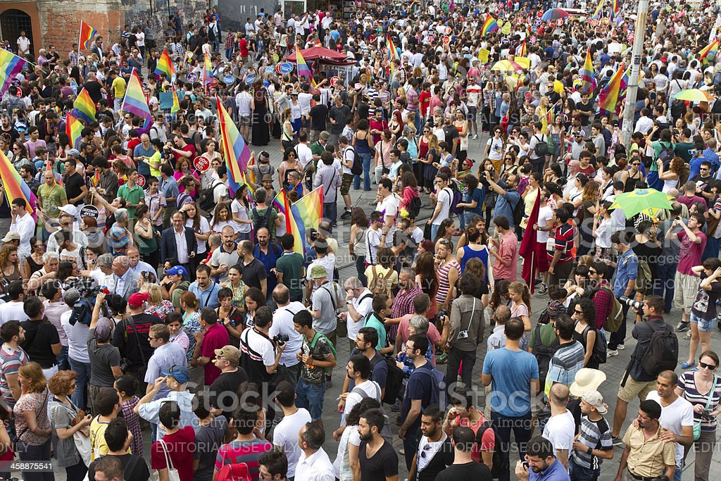 Istanbul LGBT Pride parade royalty-free stock photo