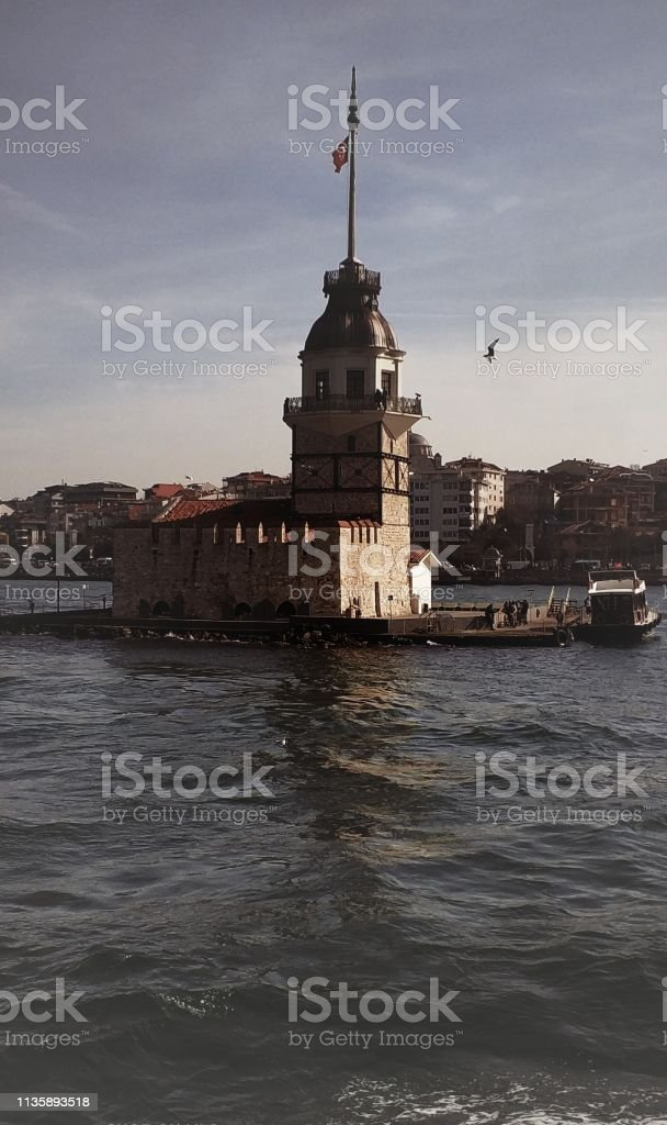 Istanbul -  Maiden's Tower stock photo
