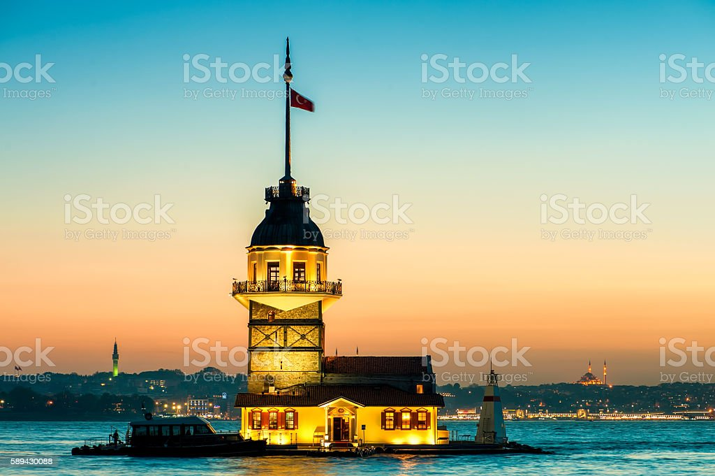 Istanbul Maiden's Tower stock photo