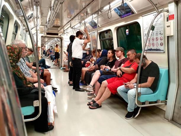 istanbul metro - innen - wiedenmeier istanbul stock-fotos und bilder