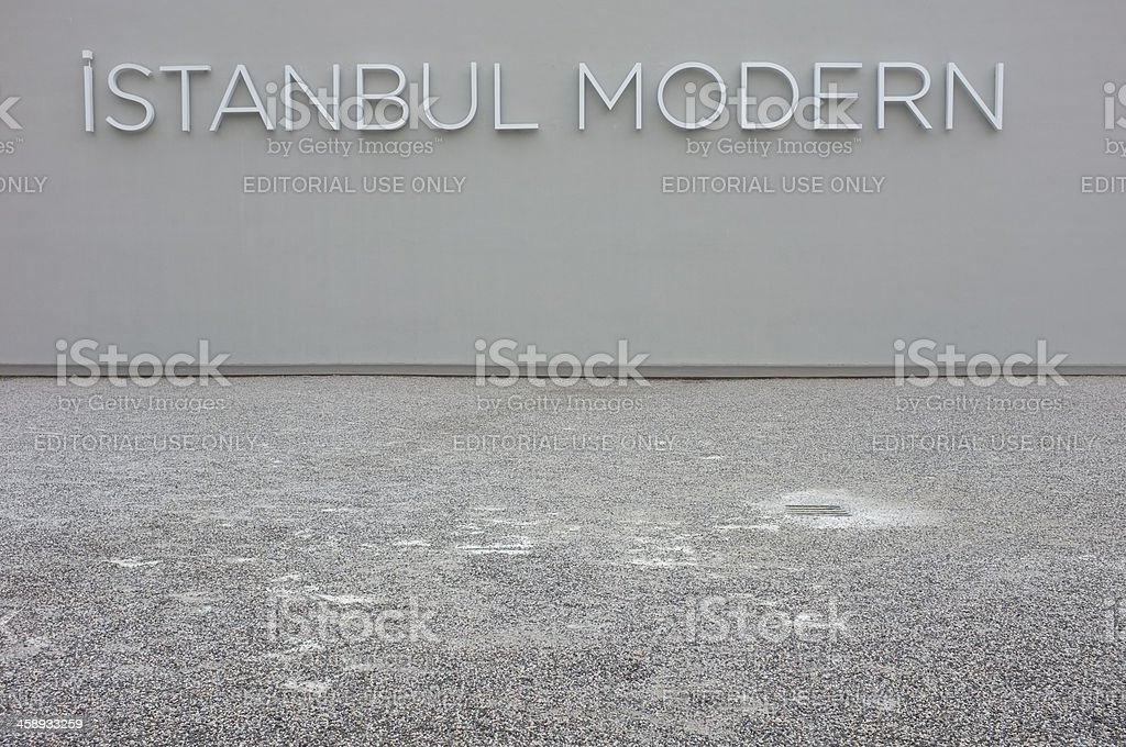Istanbul Modern Art Museum Turkey royalty-free stock photo