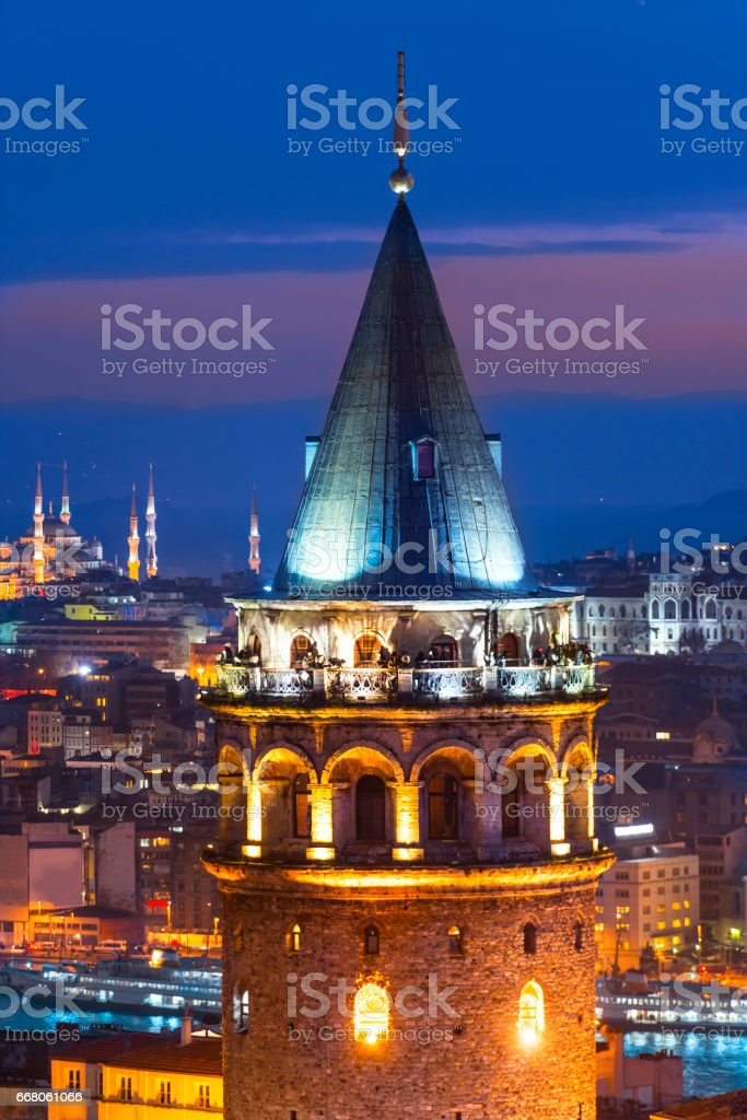 Istanbul Night stock photo