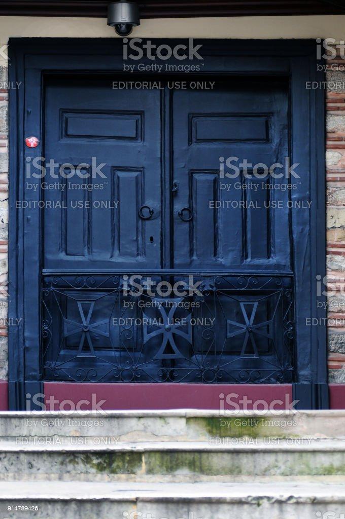 istanbul orthodox patriarchy hatred door stock photo