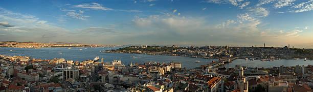 панорама стамбула xxxl - каракёй стамбул стоковые фото и изображения