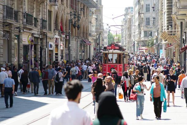 istanbul - istiklal avenue bildbanksfoton och bilder