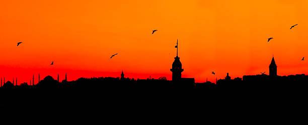 Istanbul Silhouette stock photo
