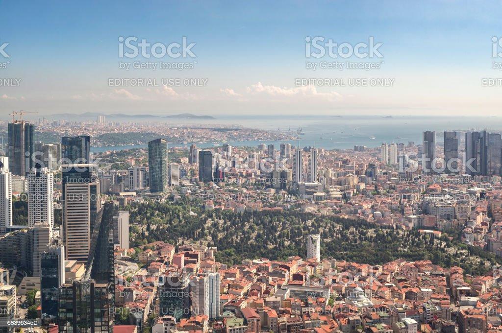 Istanbul Skyline, Turkey stock photo