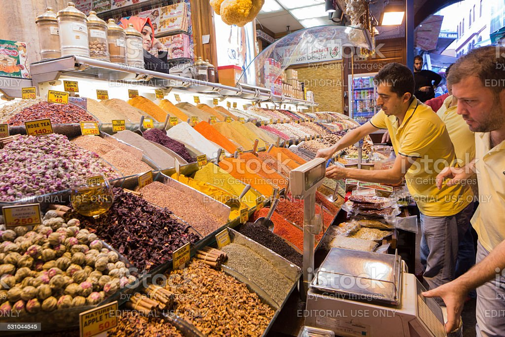 Istanbul Spice Market royalty-free stock photo