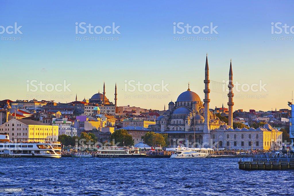 Istanbul sunset Istanbul sunset panorama - Turkey travel background Architecture Stock Photo