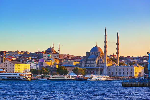 Istanbul sunset stock photo