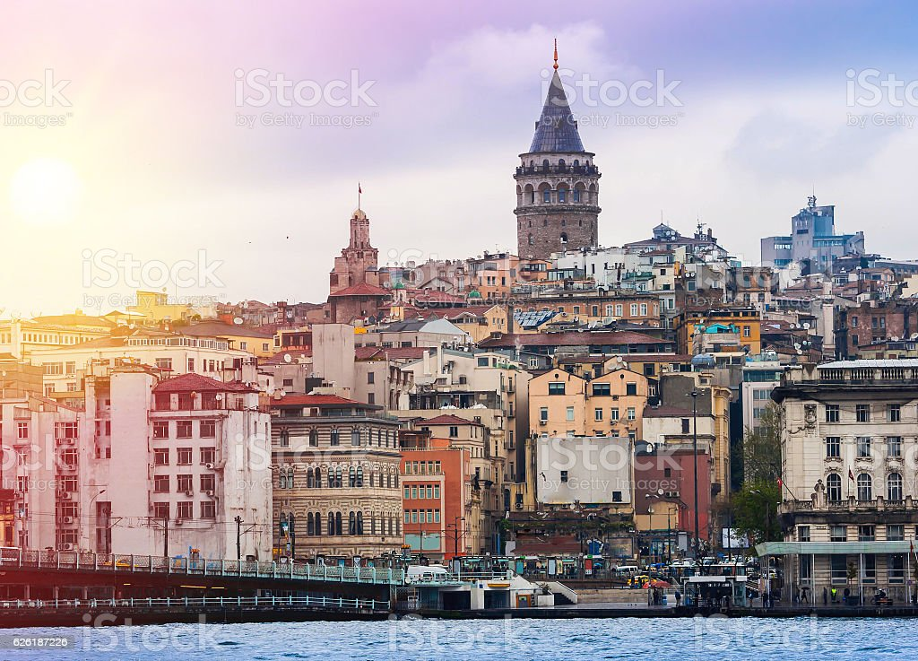 Istanbul the capital of Turkey stock photo