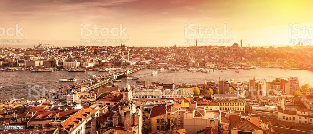Istanbul the capital of Turkey, stock photo