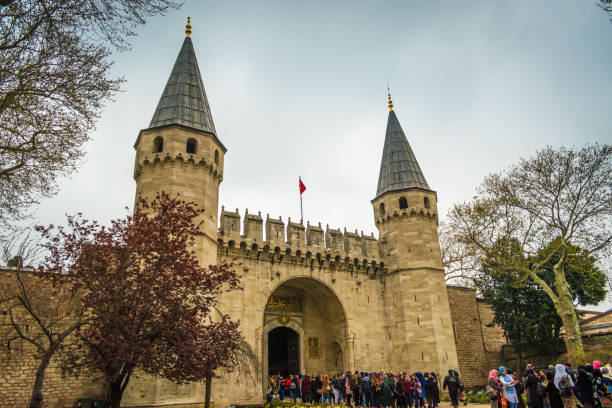 Istanbul, Turkey - 10.20.2018 : Entrance To The Topkapi Palace stock photo
