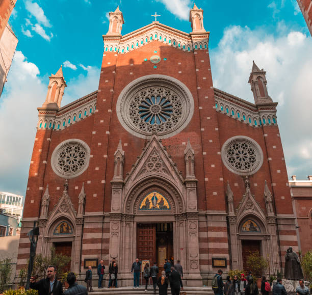 Istanbul, Turkey - 10.26.2018 : Church of St. Anthony of Padua stock photo