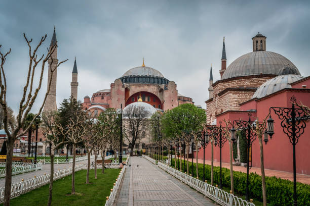 Istanbul, Turkey - 10.26.2018 : Hagia Sophia stock photo