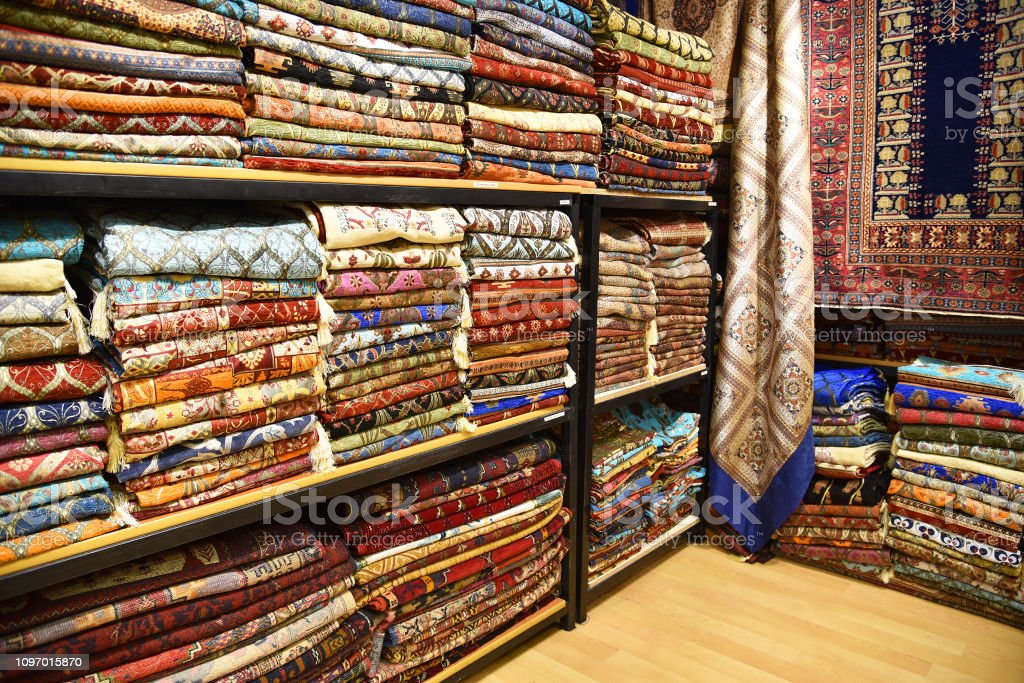 Istanbul, Turkey. A variety of products at the Grand Bazaar.