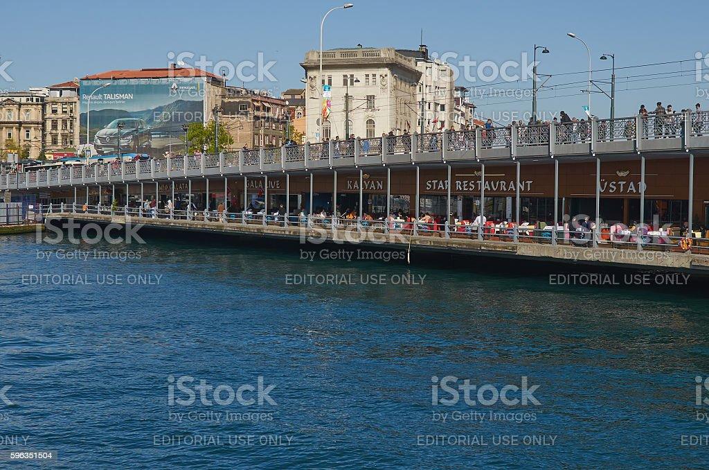Istanbul, Turkey, April, 03, 2016, Galatasaray Bridge,  editoria royalty-free stock photo