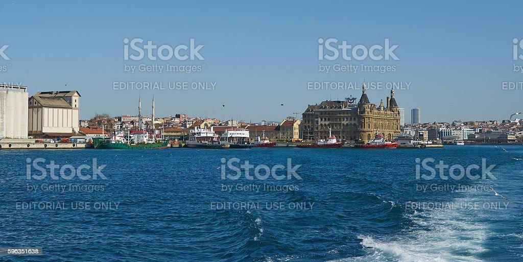 Istanbul, Turkey, April, 03, 2016, Golden Horn Bay Asian coast, royalty-free stock photo