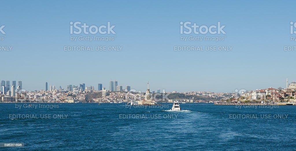 Istanbul, Turkey, April, 03, 2016, Golden Horn Bay coast, editor Lizenzfreies stock-foto