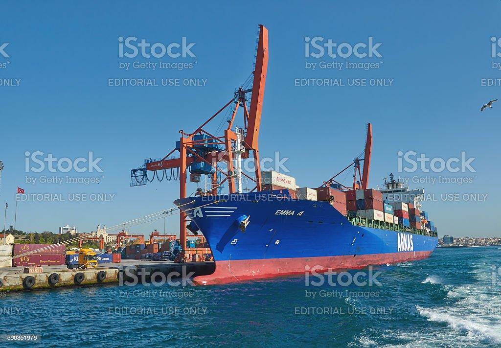 Istanbul, Turkey, April, 03, 2016, Golden Horn, Cargo terminal, Lizenzfreies stock-foto