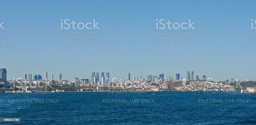 Istanbul, Turkey, April, 03, 2016, Golden Horn, New City, editor Lizenzfreies stock-foto