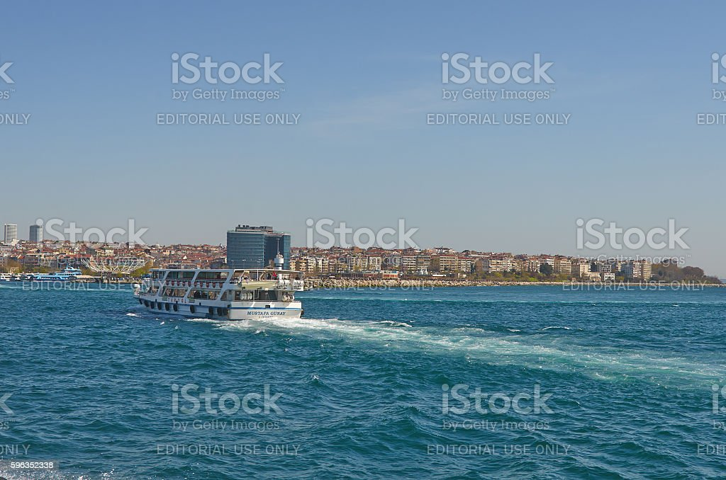 Istanbul, Turkey, April, 03, 2016, passenger boat, Golden Horn, royalty-free stock photo
