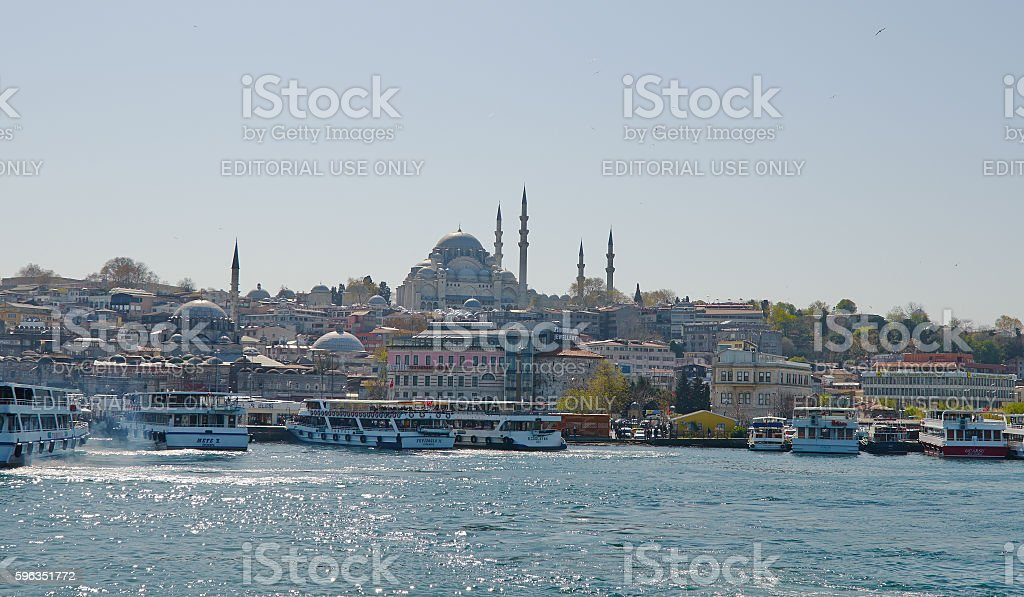 Istanbul, Turkey, April, 03, 2016, passenger boats, Golden Horn, royalty-free stock photo