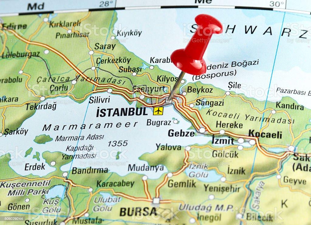 Istanbul, Turchia - Foto stock royalty-free di Carta geografica