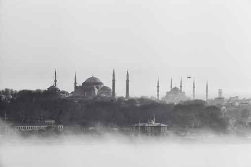 Istanbul view in fog