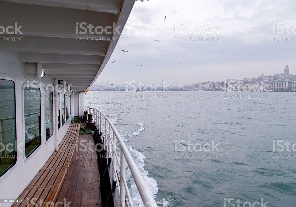 Istanbul views on ferry stock photo