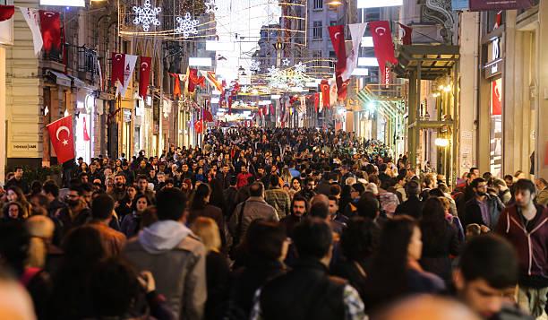 istiklal avenue in istanbul city - istiklal avenue bildbanksfoton och bilder