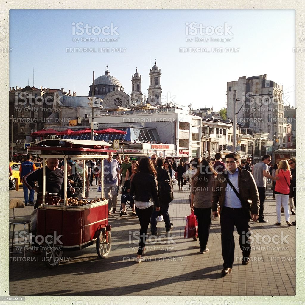 Istiklal street in istanbul royalty-free stock photo