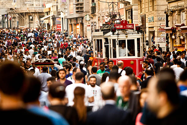 istiklal,taksim,istanbul - istiklal avenue bildbanksfoton och bilder