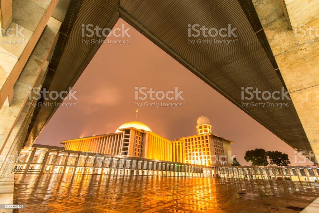 Istiqlal Mosque stock photo