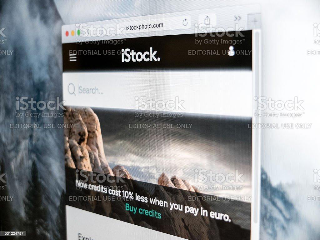 iStock website on safari browser stock photo