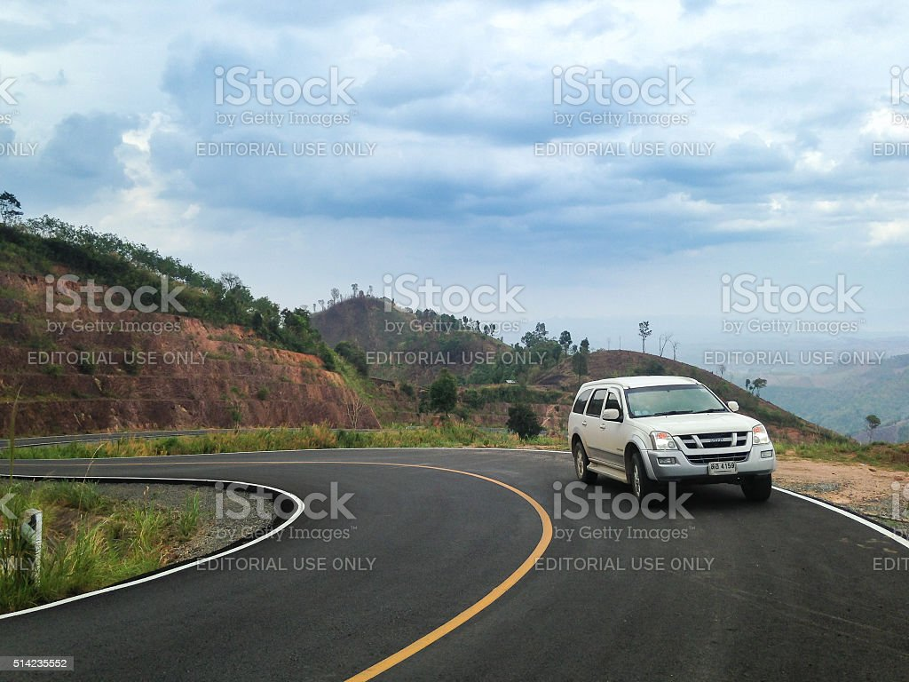 Isuzu Mu-7 SUV stock photo