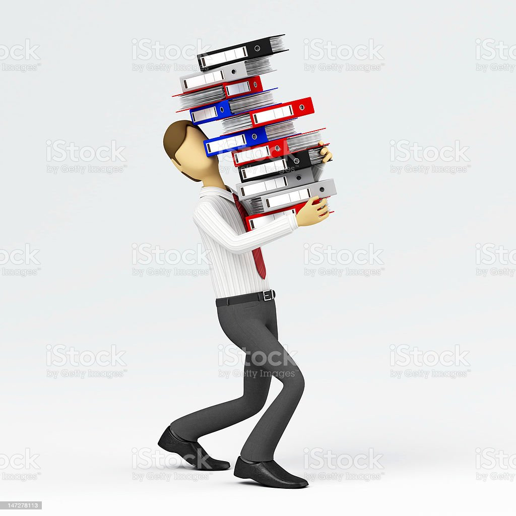 It ain't heavy, it's just my job royalty-free stock photo