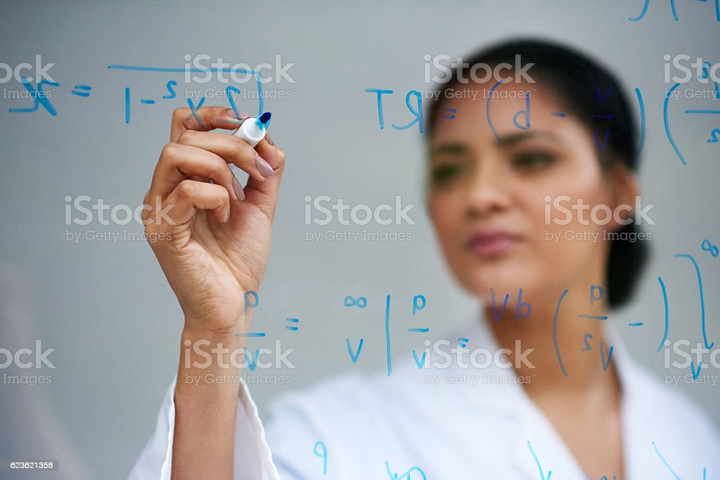 It all starts with an equation stock photo