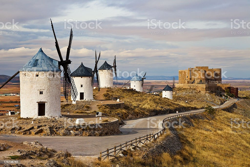 Consuegra windmills. Castilla La Mancha stock photo