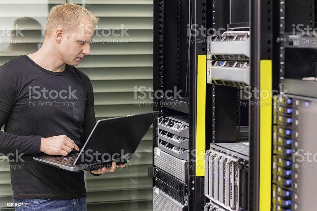 It consultant in data center stock photo