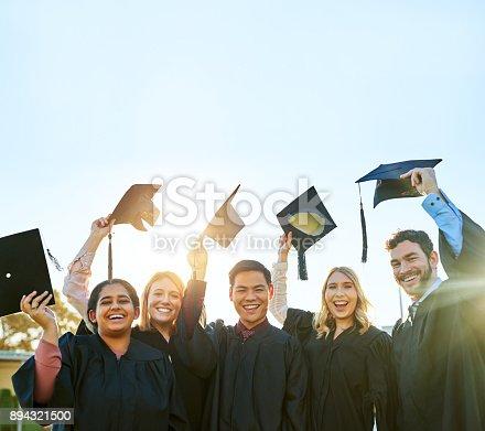 istock It feels amazing to finally graduate! 894321500