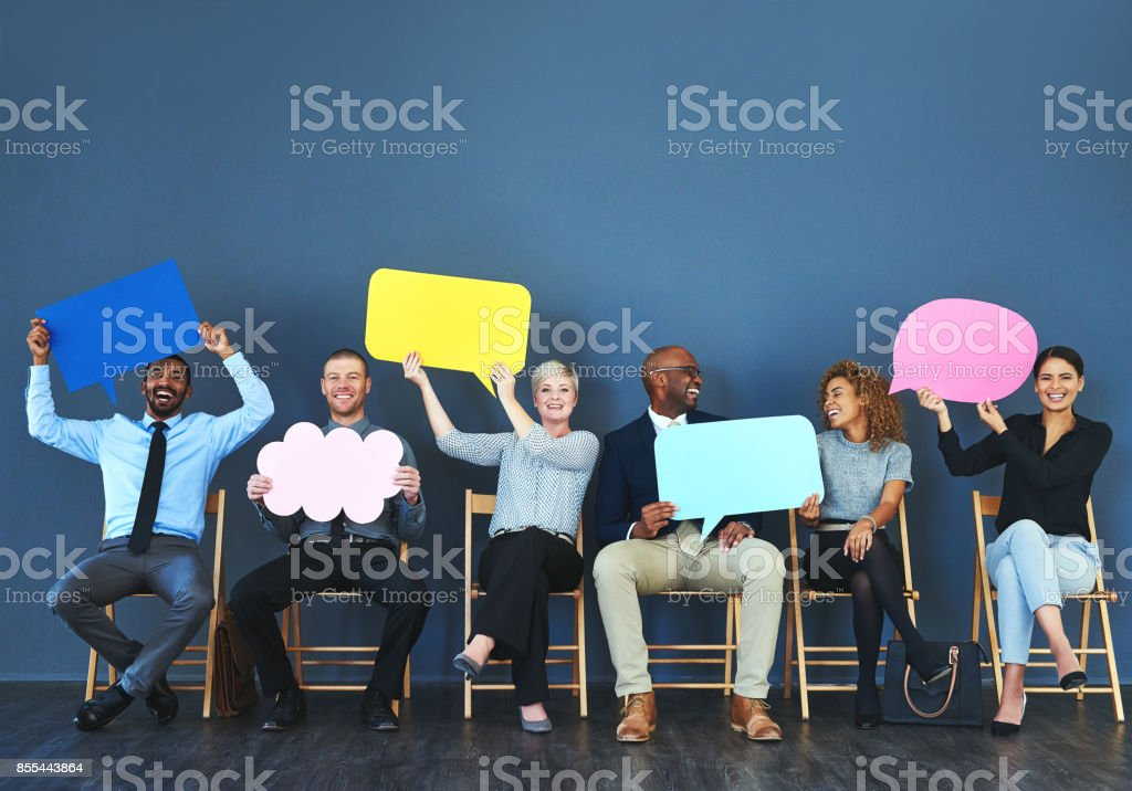 It feels good being able to speak your mind stock photo