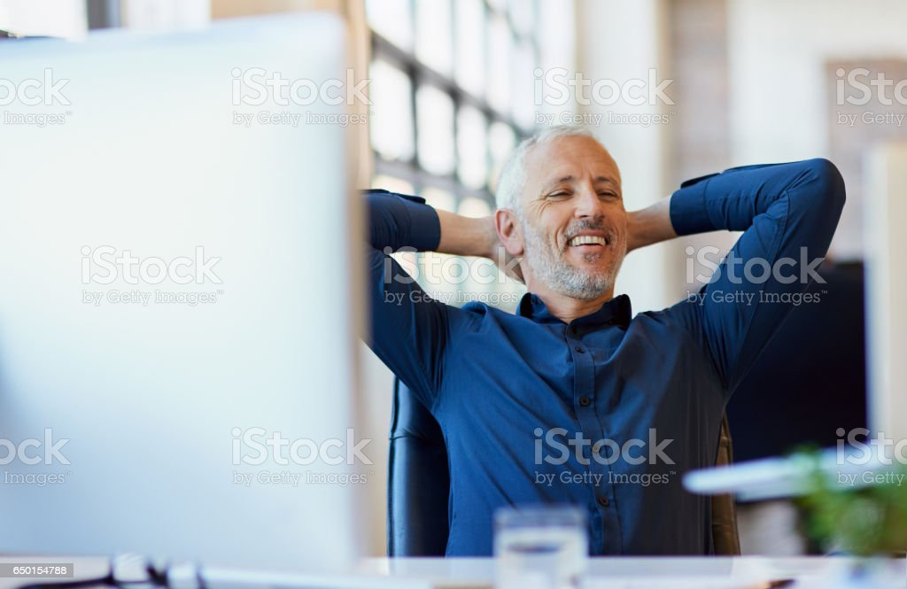 It feels good to be in charge stock photo