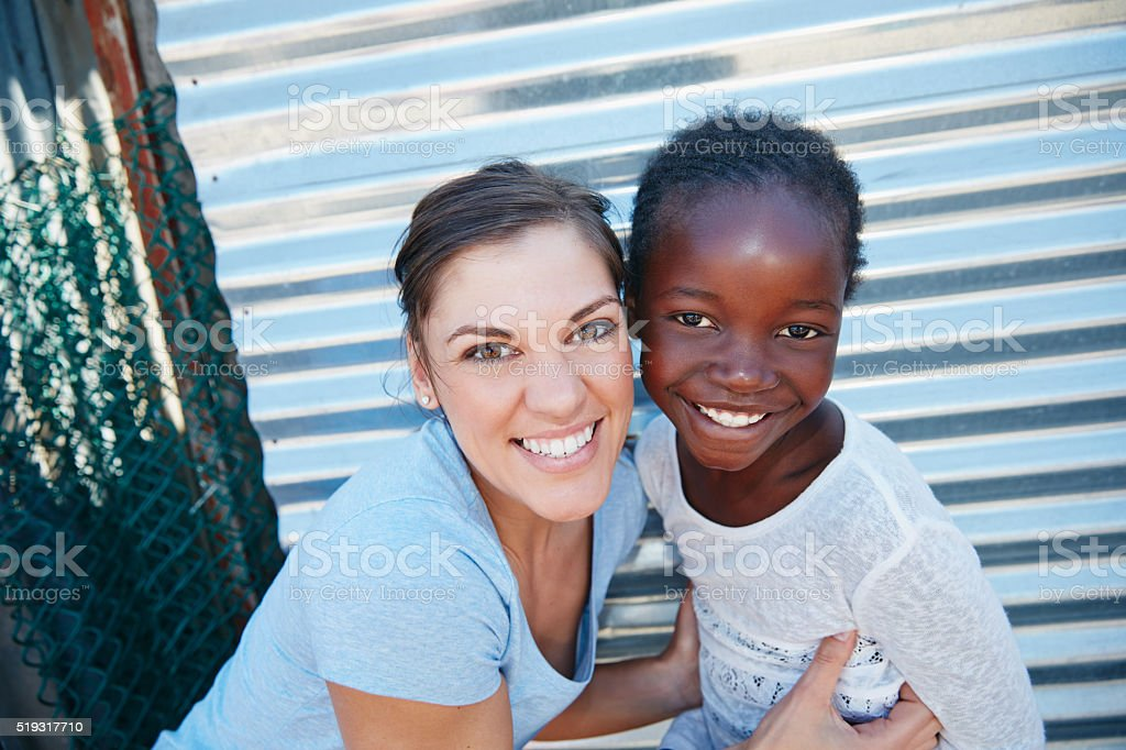It feels good to do good stock photo