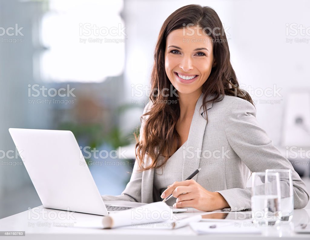 It feels good to have made it! stock photo
