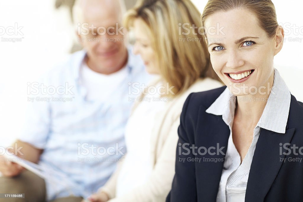 It gives me joy to share my advice with them royalty-free stock photo