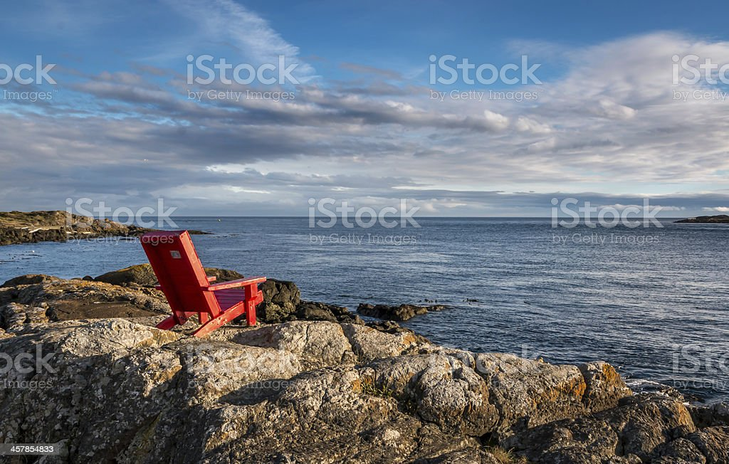 It is a beautiful day over the ocean stock photo